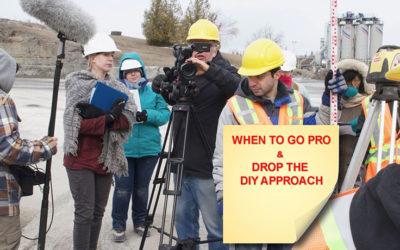 Hire video professionals and dump DIY